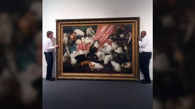 Lukisan Kucing Terbesar Di Dunia Laku Rp11 2 M