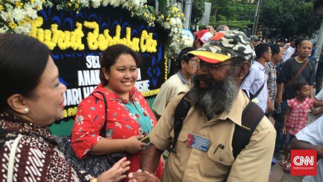 Eks Tapol Papua Filep Karma Ikut Turun ke Thamrin Kecam Teror