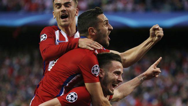 Atletico Madrid Sukses Menutup Babak Pertama Dengan Keunggulan