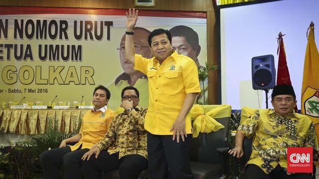 Setya Novanto Terpilih Jadi Ketua Umum Partai Golkar