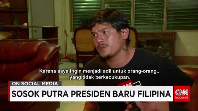 CNN Indonesia Detail: Sosok Nyentrik Putra Presiden Filipina