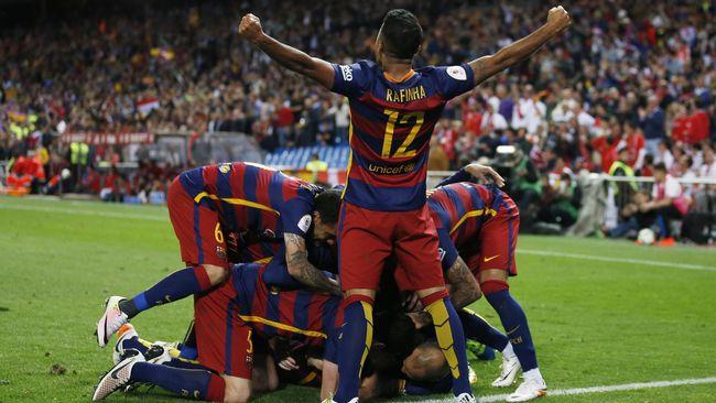 Barcelona Sukses Kawinkan La Liga dan Piala Raja