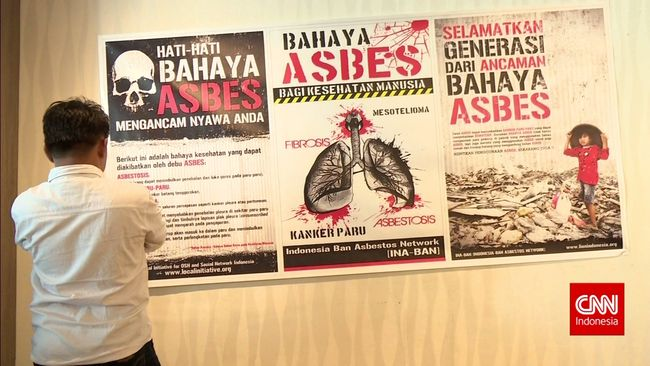 CNN Indonesia Detail: Bahaya Asbes Bagi Kesehatan Manusia