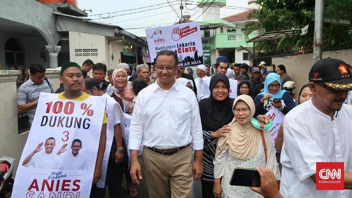 CNN Indonesia Detail: Kelelahan, Anies Tunda Agenda Kampanye