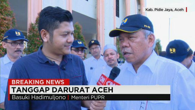 CNN Indonesia Detail: Menteri PUPR Tanggapi Dampak Kerusakan Gempa