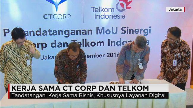 CNN Indonesia Detail: CT Corp Dan PT Telkom Menjalin Sinergi