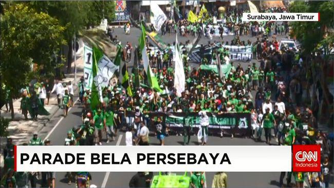 CNN Indonesia Detail: Bonek Menuntut Agar Klub Persebaya Bermain Di LSI