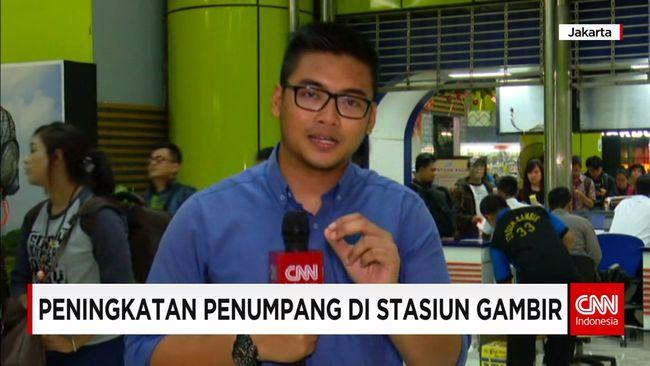 CNN Indonesia Detail: Peningkatan Penumpang Di Stasiun Gambir