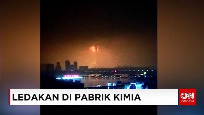 CNN Indonesia Detail: Pabrik Kimia Meledak