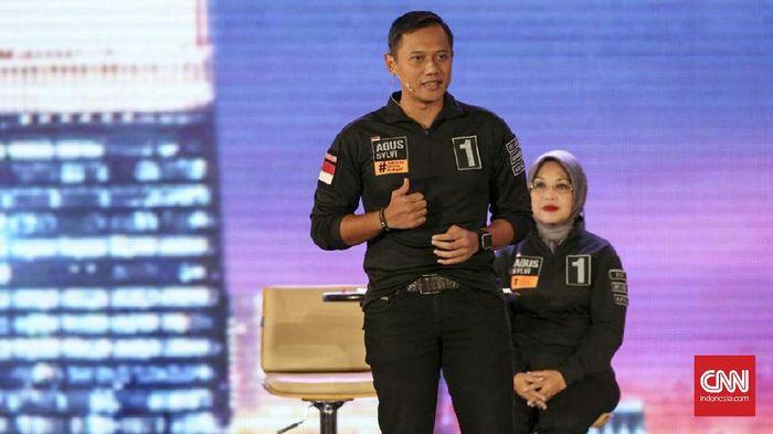 CNN Indonesia Detail: Kampanye Terakhir, AHY Dan Sylvi Ajari Cara 'Nyoblos