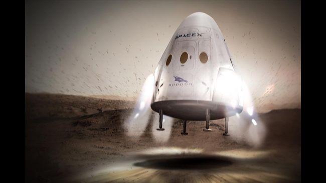 SpaceX Tunda Misi Ke Mars Sampai 2020