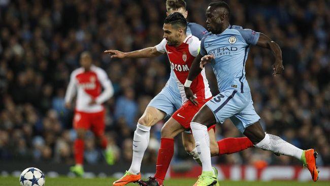 Babak Pertama, ManCity Tertinggal 1-2 dari Monaco