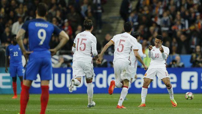 Timnas Perancis Takluk 0-2 dari Spanyol