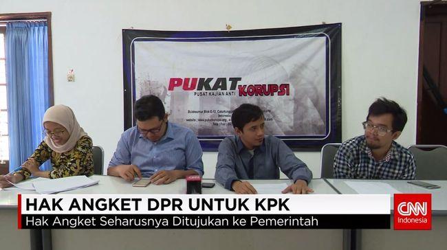 CNN Indonesia Detail: Kajian UGM: KPK Bisa Ajukan Sengketa Ke MK Soal Hak Angket