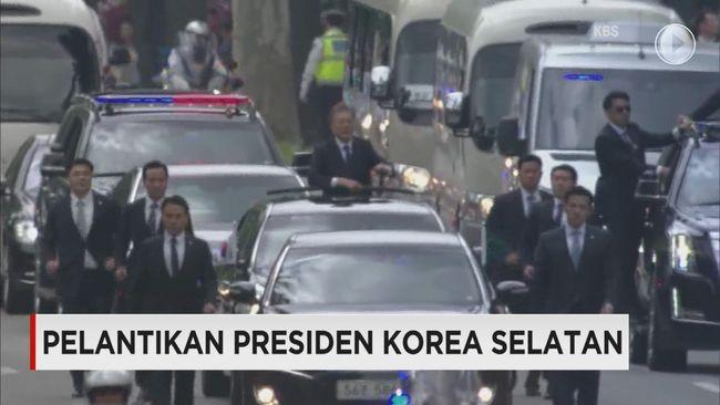 CNN Indonesia Detail: Pelantikan Presiden Korea Selatan
