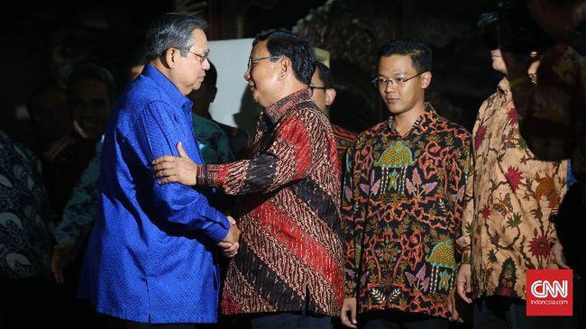 Pertemuan Jilid II Digelar Pekan - Jakarta CNN Indonesia Pertemuan lanjutan antara Ketua Umum Partai Gerindra Prabowo Subianto dan Ketua Umum Partai Demokrat Susilo