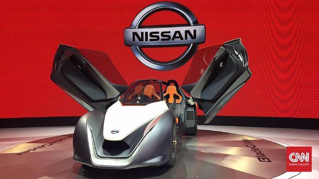 Dua Mobil Listrik Konsep Nissan - Jakarta CNN Indonesia konsep listrik menjadi salah satu andalan Nissan Motor Indonesia selama mengukuti ajang pamer otomotif Gaikindo