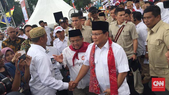 CNN Indonesia Detail: Prabowo Ada Di Tiga Lokasi Kampanye Anies-Sandi