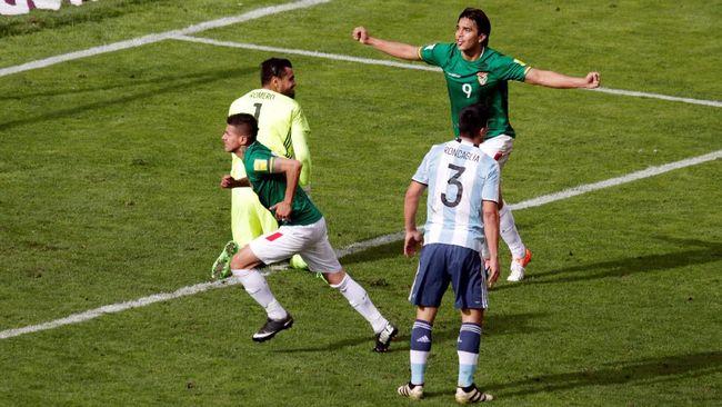 Messi Absen, Argentina Dikalahkan Bolivia 0-2