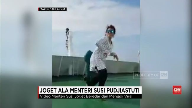 Joget The Beatles Ala Menteri Susi Pudjiastuti